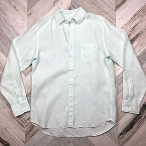 J.Crew Irish Linen Button Down Shirt Medium Pastel